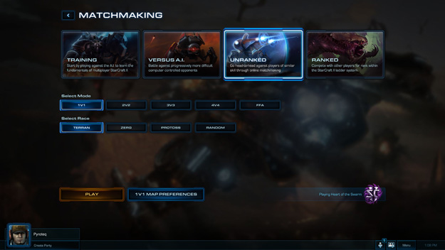 Starcraft 2 has limited match making playlists meaning larger player pools for competitive games.