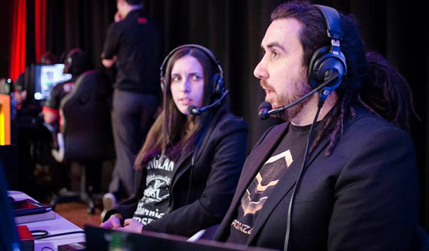 Australian Cyber League's Starcraft 2 casters. Zepph shows that anyone is welcome into the eSports scene, regardless of gender.